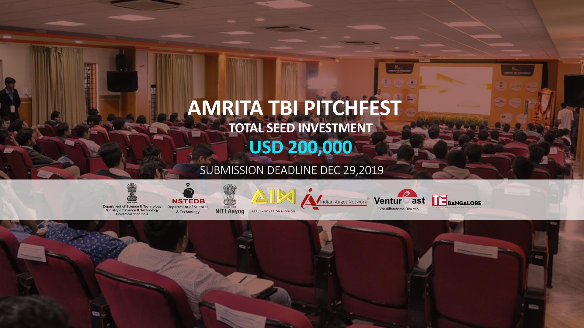 Amrita TBI Pitchfest 2019